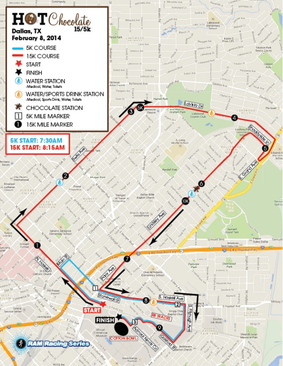 Detour Information For Hot Chocolate 15 5k At Fair Park Saturday
