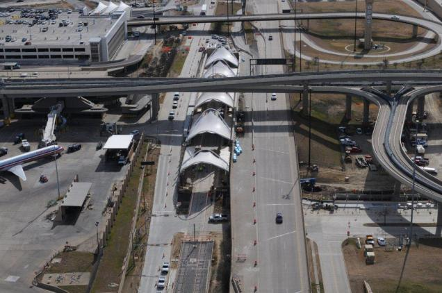 Aerial view of DFW Airport Station. (Photo: Courtesy Dallas/Fort Worth International Airport)