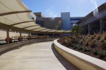 The walking path from Terminal A to DFW Airport Station. (Photo: Courtesy Dallas/Fort Worth International Airport)