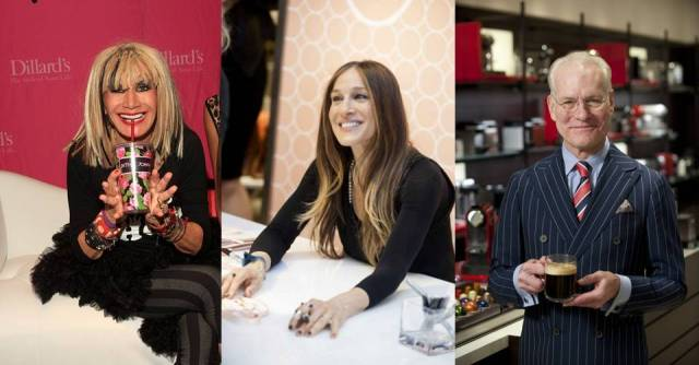 Betsey Johnson, Sarah Jessica Parker, and Tim Gunn at NorthPark Center