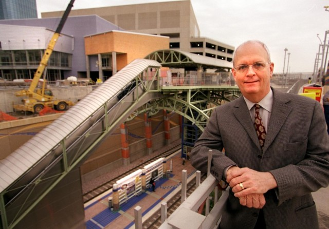 Ken Hughes pictured at Mockingbird Station. (Photo: Dallas Morning News)