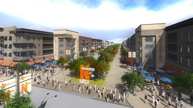 A rendering shows what the Northside development may look like.