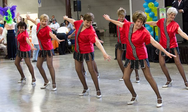 Dancers entertain the crowd at the 2014 Older Americans Health and Information Fair.