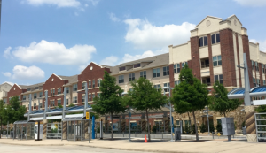Farmers Branch Station is at the front door of many Mustang Station apartments. (Credit: mustangstationapts.com)