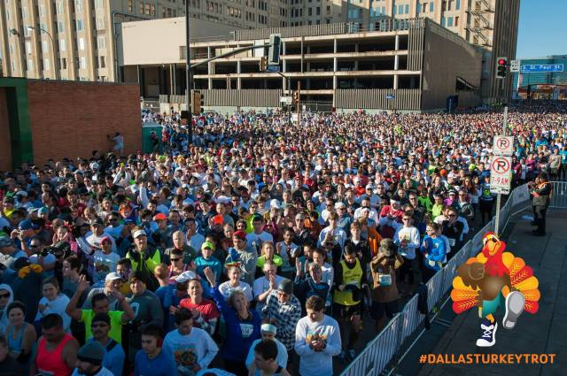 The crowds pack the streets for the 2014 Dallas YMCA Turkey Trot. (Credit: Dallas YMCA Turkey Trot Facebook page)