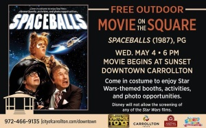 Carrollton Spaceballs Movie on the Square