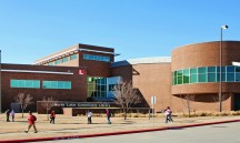 Students walking at North Lake College. The college is part of the Dallas County Community College District, which received $1.2 million to provide free DART passes to eligible students at all DCCCD colleges.