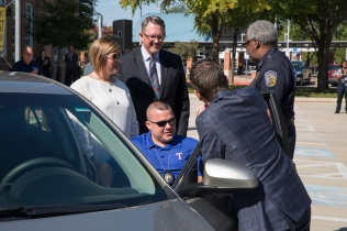 Gary at the car DART Police J Ellis