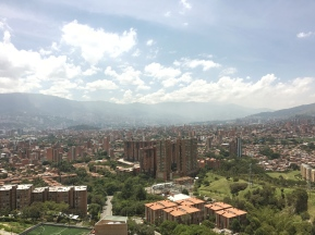 A view of Medellín, Colombia from Zapata's parent's apartment taken September 2017. Photo by Gustavo Zapata.