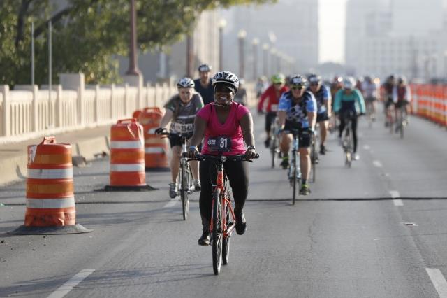 Dallas Bike Ride in Dallas, Texas on November 4, 2017. (Photo/ Gregg Ellman)