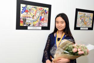winner at her display 1