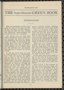 "Schomburg Center for Research in Black Culture, Manuscripts, Archives andRare Books Division, The New York Public Library. ""The Negro Motorist Green Book: 1949"" New York Public Library Digital Collections. Accessed June 19, 2019. http://digitalcollections.nypl.org/items/9dc3ff40-8df4-0132-fd57-58d385a7b928"