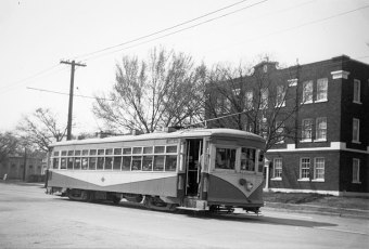 From the collections of the Dallas History & Archives Division, Dallas Public Library. Dallas Public Library CHARLES MIZELL COLLECTIONPA81- 1/ 6Dallas Railway & Terminal Co. Streetcar 772 on West Jefferson Boulevard. Second Fair Park, Line #41948